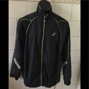 Asics Jogging Wind Breaker w/ Reflective Stripes L